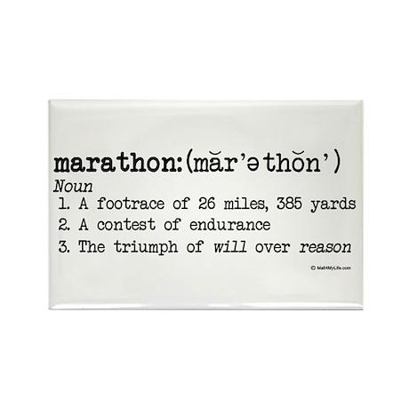 Marathon Definition Rectangle Magnet