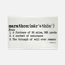 Marathon Definition Rectangle Magnet