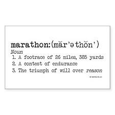 Marathon Definition Decal