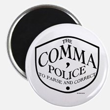 Comma Police Magnet Magnets