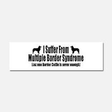 Border Collie Car Magnet 10 x 3