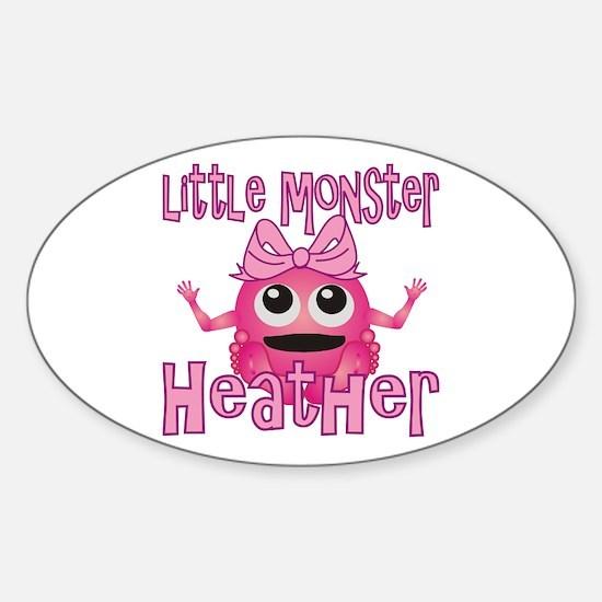 Little Monster Heather Sticker (Oval)