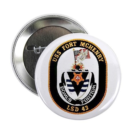 USS Fort McHenry LSD 43 Button