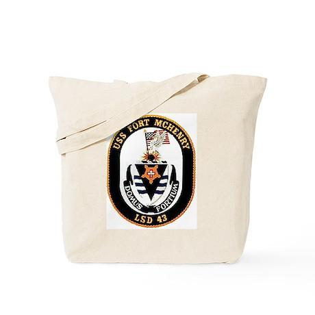 USS Fort McHenry LSD 43 Tote Bag