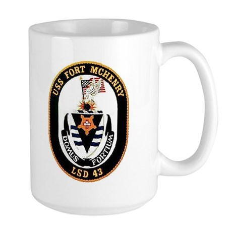 USS Fort McHenry LSD 43 Large Mug