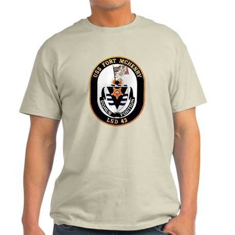 USS Fort McHenry LSD 43 Light T-Shirt