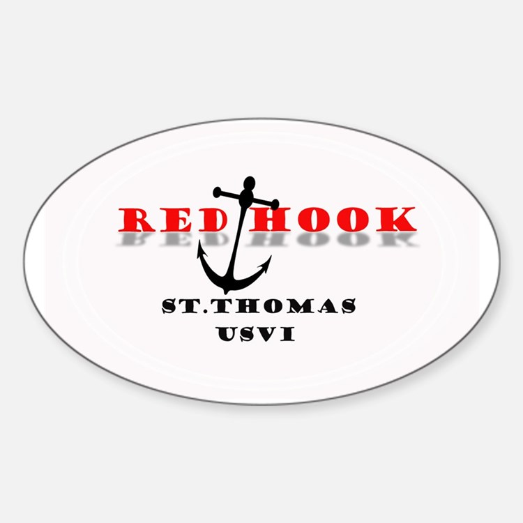 Red Hook St. Thomas Sticker (Oval)
