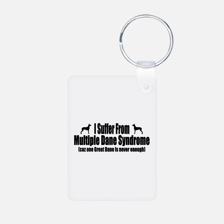 Great Dane Aluminum Photo Keychain