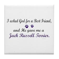 God Gave Me A Jack Russell 2 Tile Coaster