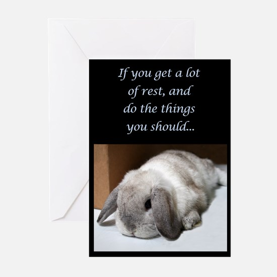 Bunny Get Well Soon Greeting Cards