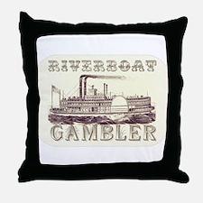 Riverboat Gambler Throw Pillow