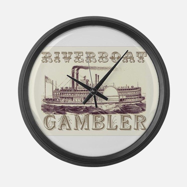 Riverboat Gambler Large Wall Clock