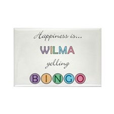 Wilma BINGO Rectangle Magnet
