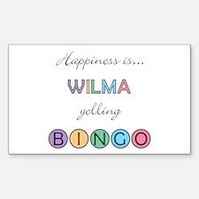 Wilma BINGO Rectangle Decal