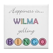 Wilma BINGO Tile Coaster