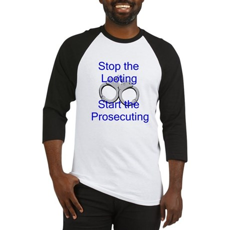 Stop the Looting-bl Baseball Jersey