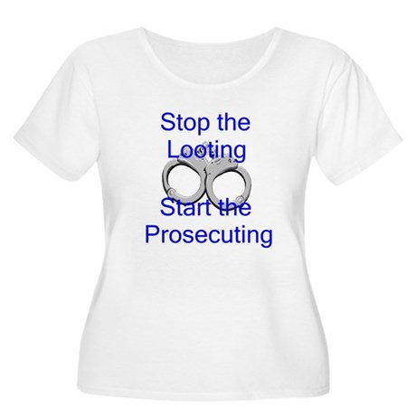 Stop the Looting-bl Women's Plus Size Scoop Neck T
