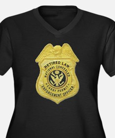 Retired Law Enforcement Women's Plus Size V-Neck D