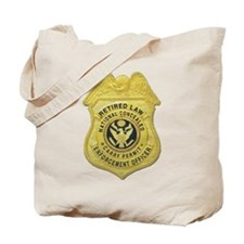 Retired Law Enforcement Tote Bag