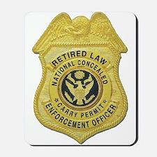 Retired Law Enforcement Mousepad