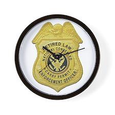 Retired Law Enforcement Wall Clock