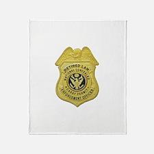 Retired Law Enforcement Throw Blanket