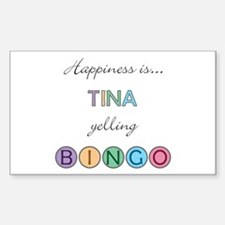 Tina BINGO Rectangle Decal
