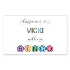 Vicki BINGO Rectangle Decal
