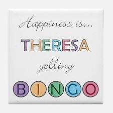 Theresa BINGO Tile Coaster