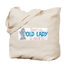 Old Lady Coffee Tote Bag