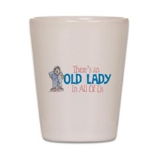 Old Lady Coffee Shot Glass
