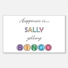 Sally BINGO Rectangle Decal