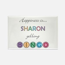Sharon BINGO Rectangle Magnet