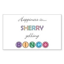 Sherry BINGO Rectangle Decal