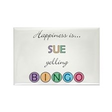 Sue BINGO Rectangle Magnet
