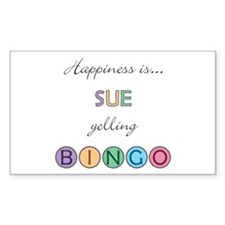 Sue BINGO Rectangle Decal