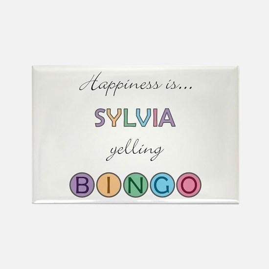 Sylvia BINGO Rectangle Magnet