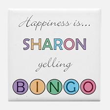 Sharon BINGO Tile Coaster
