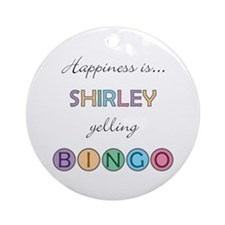 Shirley BINGO Round Ornament