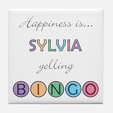 Sylvia BINGO Tile Coaster