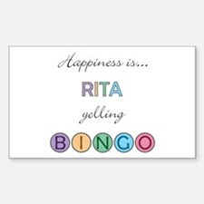 Rita BINGO Rectangle Decal
