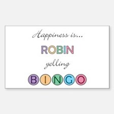 Robin BINGO Rectangle Decal