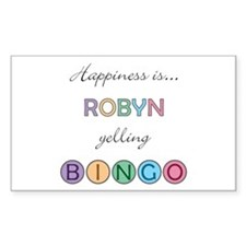 Robyn BINGO Rectangle Decal