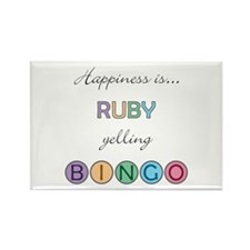 Ruby BINGO Rectangle Magnet