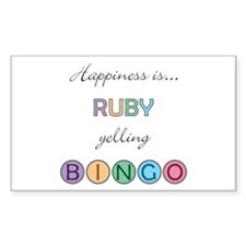 Ruby BINGO Rectangle Decal