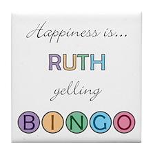 Ruth BINGO Tile Coaster