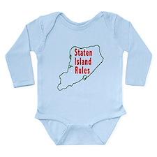 Staten Island Rules Long Sleeve Infant Bodysuit