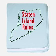 Staten Island Rules baby blanket