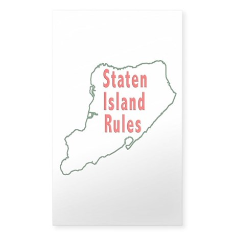 Staten Island Rules Sticker (Rectangle)