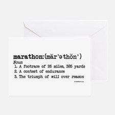 Marathon Definition Good Luck Card